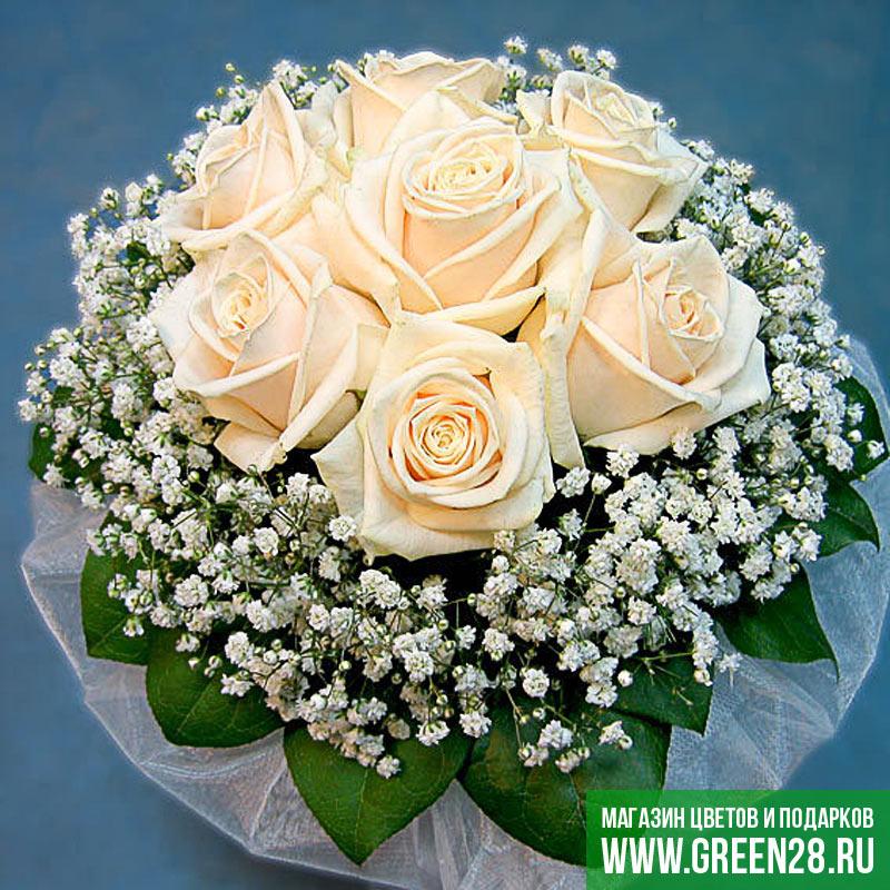 Свадебные букеты своими руками из живых цветов