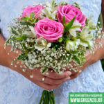 Открытый букет невесты «Rose» (thumb)