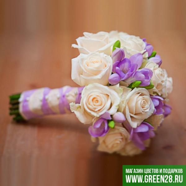 Открытый букет невесты «Аромат нежности»» (thumb)