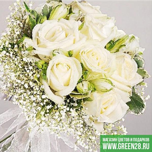 Открытый букет невесты «Снежная королева» (thumb)