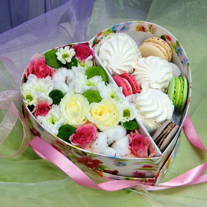 Коробка с цветами «Воздушность»